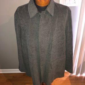Gray wool Claiborne luxe jacket size XXL